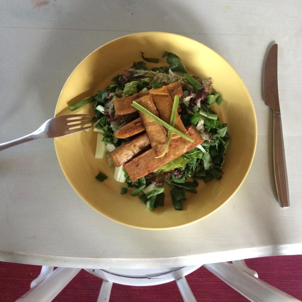 Seitan salaattipedillä